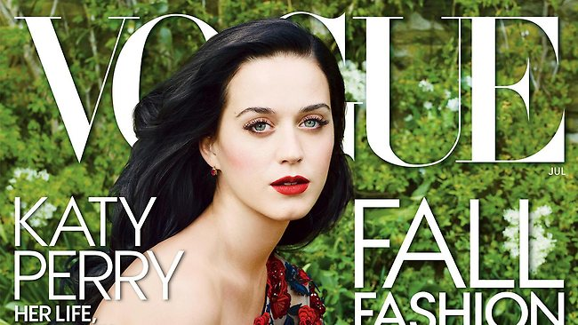 This publicity photo provided by Vogue shows singer Katy Perry on the July 2013 cover of the US edition of Vogue magazine, photographed by Annie Leibovitz.