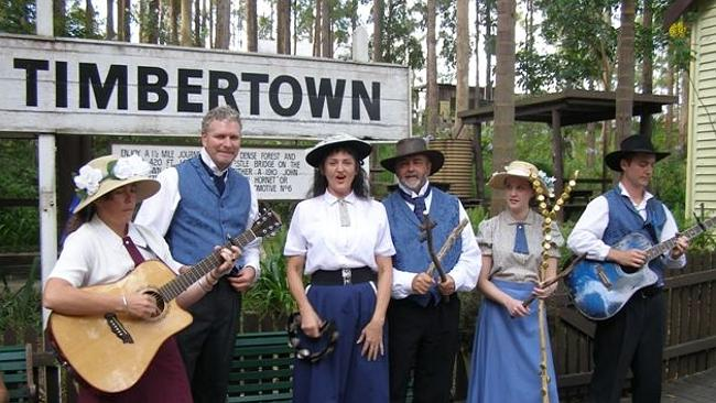 Performer's at Timbertown's Steam Fair.