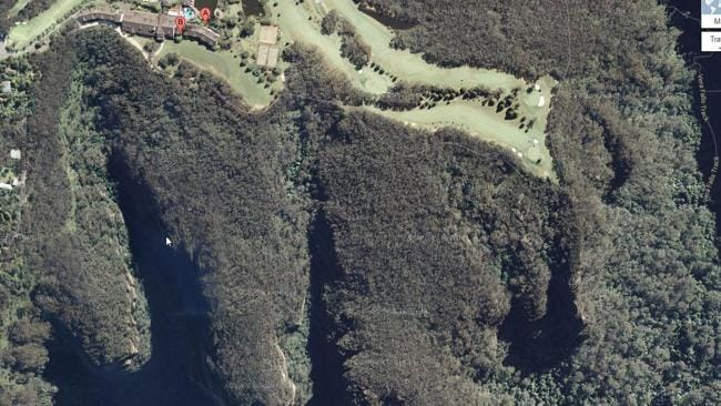 The rugged area around The Fairmont Resort and the gorges rescue teams are searching. Picture: Google Maps