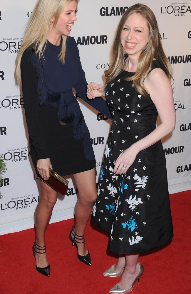 The great friendship between Ivanka Trump and Chelsea Clinton could be the bond that holds their parents together. Picture: Johns PKI / Splash News