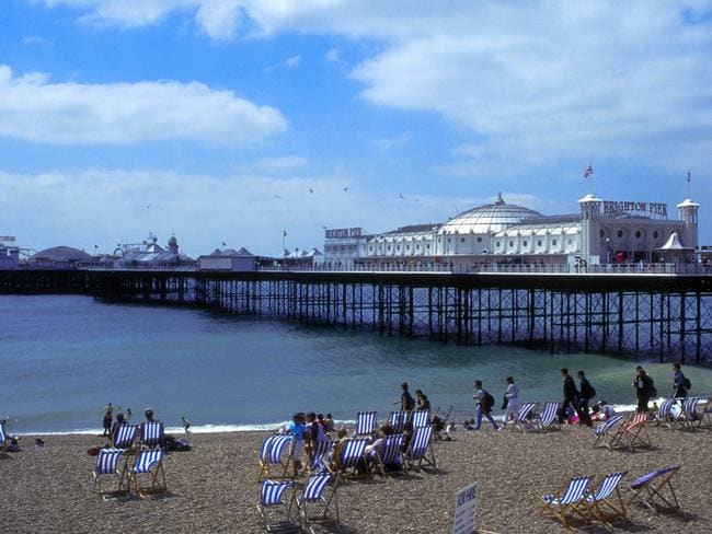 Rowe met men for sex in the English coastal town of Brighton. Picture: Supplied