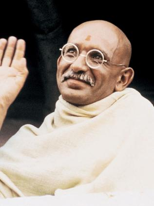 Ben Kingsley as Mahatma Gandhi.