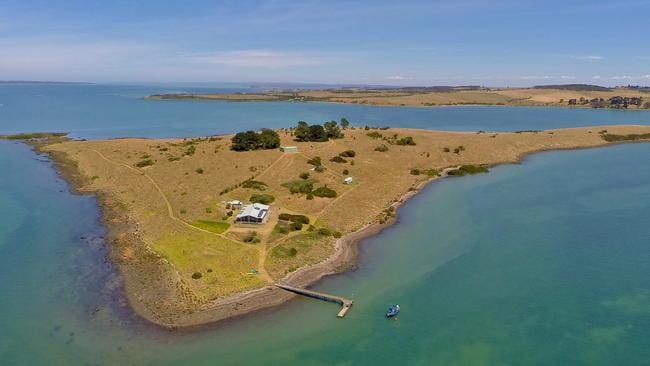Elizabeth Island is one of two Western Port islands up for sale.