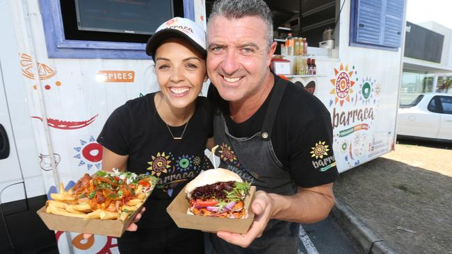 Christian and Sandra Vaughan from Barraca food truck. Picture: Mike Batterham