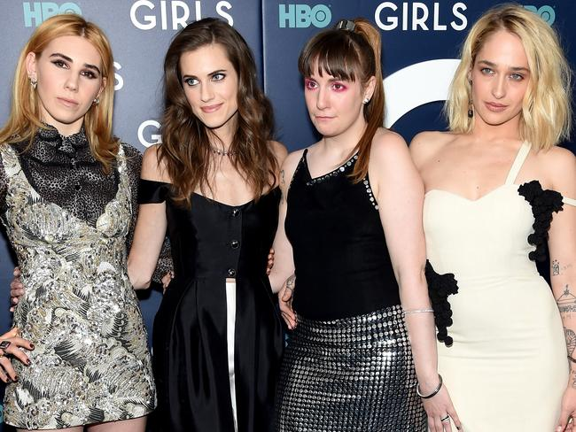Girls was completely overlooked in its final season starring (L-R) Zosia Mamet, Allison Williams, Lena Dunham and Jemima Kirke. Picture: Getty