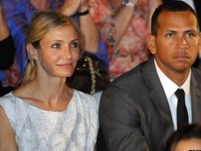 Struck out ... New York Yankees' third baseman Alex Rodriguez, right, and Cameron Diaz.