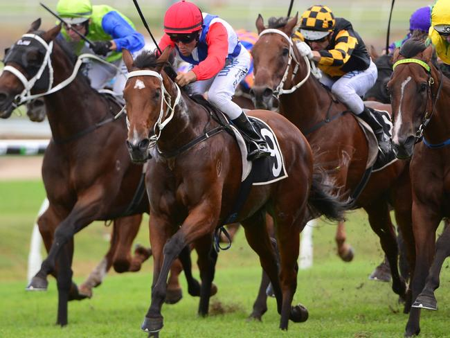 Despite the drama involving hot favourite Amanaat jockey Bobby El-Issa still rode a race-to-race double, including With A Promise. Picture: AAP