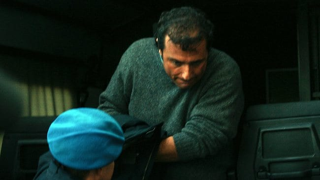 Francesco Schettino leaves court after prosecutors accused him of manslaughter. Picture: AP