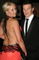 2008 Brownlow Medal. Shayne McClintock and Brent Harvey. Picture: News Corp
