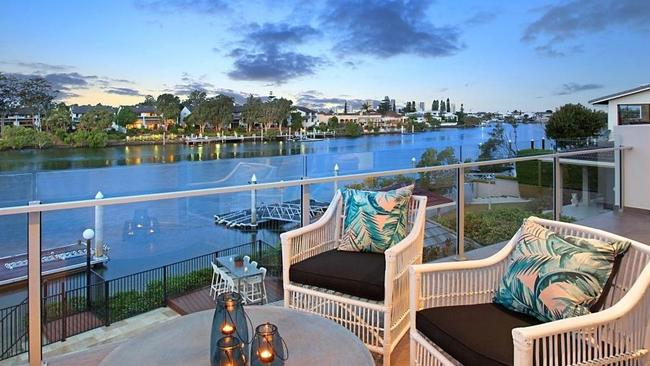 The deck on the home at 41 Conifer Cres, Broadbeach Waters. Pic: realestate.com.au.