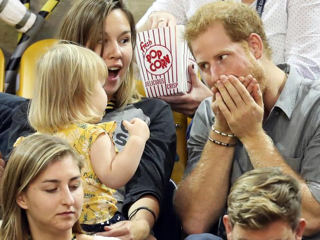 This kid seriously scored with their seat allocation. Picture: Chris Jackson/Getty Images for the Invictus Games Foundation