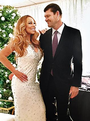 James Packer and partner Mariah Carey in New York. Picture: Instagram