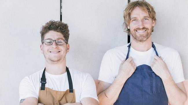 Darren Robertson (right) and Rocker head chef Stuart Toon. Picture: Nikki To