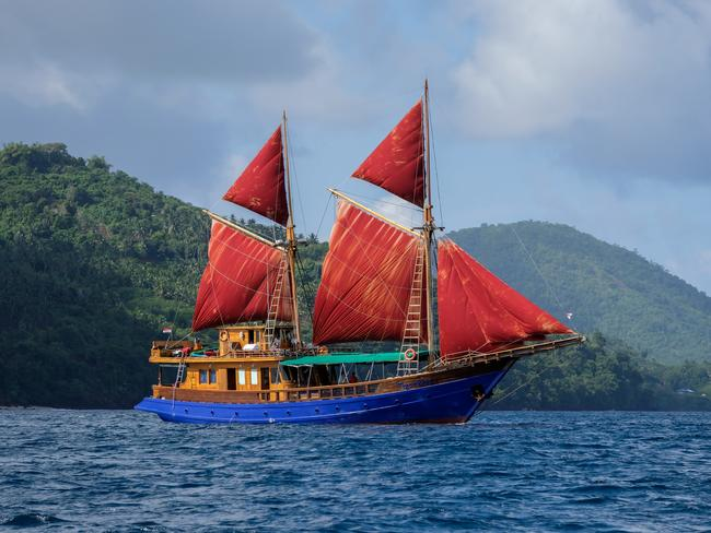 Sail to the forgotten islands via a Tiger Blue traditional Indonesian-style boat. Picture: Kit Yeng Chan.