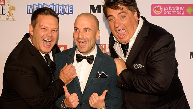 MastrChef's Gary Mehigan, George Calombaris and Matt Preston during the Red Carpet Arrivals ahead of the 56th TV Week Logie Awards 2014 held at Crown Casino