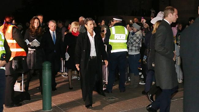 The Duke and Duchess of Cambridge, William and Kate, made a surprise appearance at the Anzac Day dawn service in Canberra. Picture: Gary Ramage