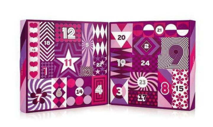 24 DAYS OF BEAUTY: The Body Shop has smashed it again this year with their '24 Days Of Beauty' advent calendar. It's filled with essential products like body butter and shower gel which means there are treats hidden behind each door. It retails for $100 and is available at The Body Shop.