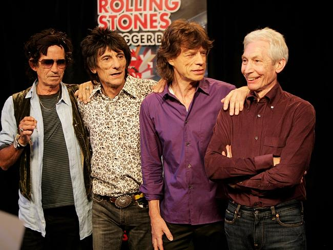 Loved around the world ... The Rolling Stones, formed in 1962. Keith Richards, Ronnie Wood, Mick Jagger and Charlie Watts. Picture: Getty Images