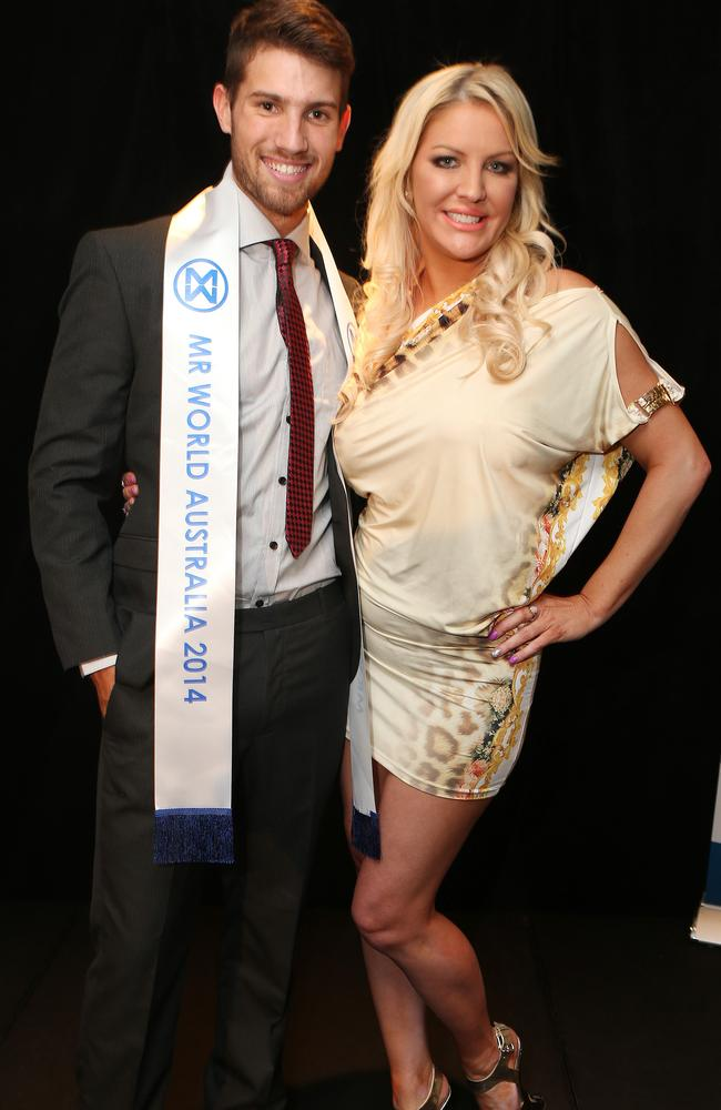 Mr World Australia Nick Kennett with Brynne Edelsten. Picture: Julie Kiriacoudis
