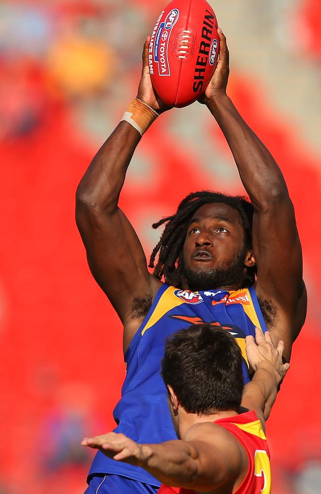 Nic Naitanui was at his best in the Gold Coast sun. Picture: Getty Images