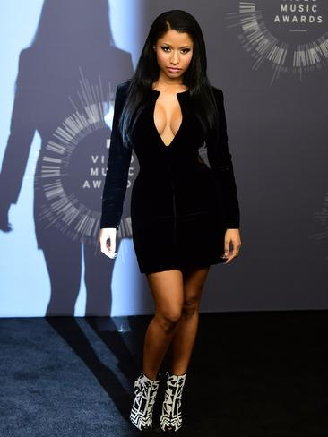 Singer Nicki Minaj poses in the press room during the MTV Video Music Awards (VMA), August 24, 2014 at the Nokia Theatre in downtown Los Angeles. Picture: AFP