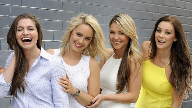 The final four bachelorettes (L-R) Jessica, Louise, Sam and Lisa at Waterloo. Picture: Craig Wilson.
