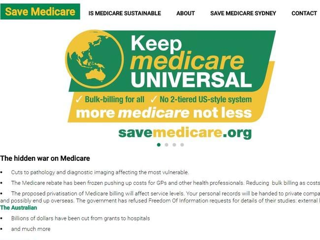 The offending website: savemedicare.org.
