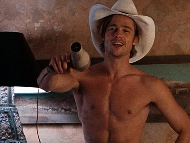 Brad Pitt in his star-making role in Thelma and Louise. Picture: Supplied
