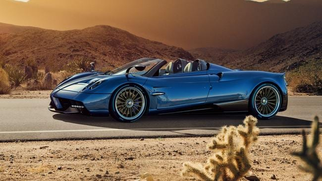 The Picasso of the motoring world: Pagani's Huayra Roadster. Pic: Supplied.