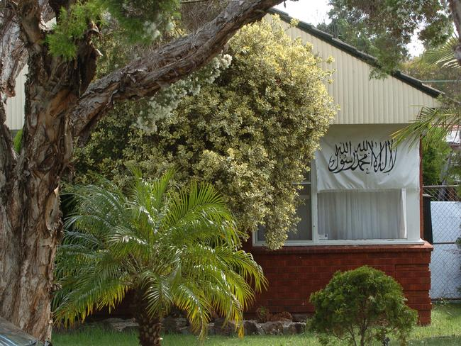 Terror suspect Khaled Sharrouf's Sydney house. Picture: Chris Pavlich
