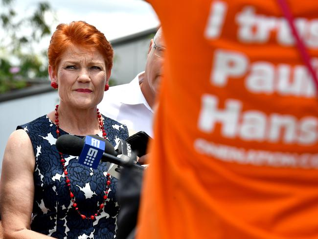 One Nation Leader Senator Pauline Hanson looms large over the election campaign. Picture: AAP Image/Mick Tsikas