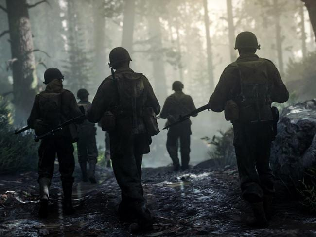 Call of Duty goes back to World War II.
