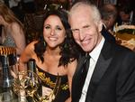 Veep actress Julia Louis-Dreyfus, winner of the awards for Outstanding Comedy Series and Outstanding Lead Actress in a Comedy Series for 'Veep,' and husband Brad Hall attends the 69th Annual Primetime Emmy Awards Governors Ball. Picture: Alberto E. Rodriguez/Getty Images