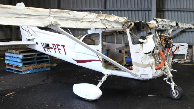 Images from the plane crash that resulted in two fatalities. Picture: Supplied