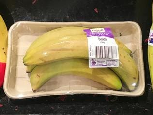 Supplied Woolworths plastic packaging vegetables and fruit