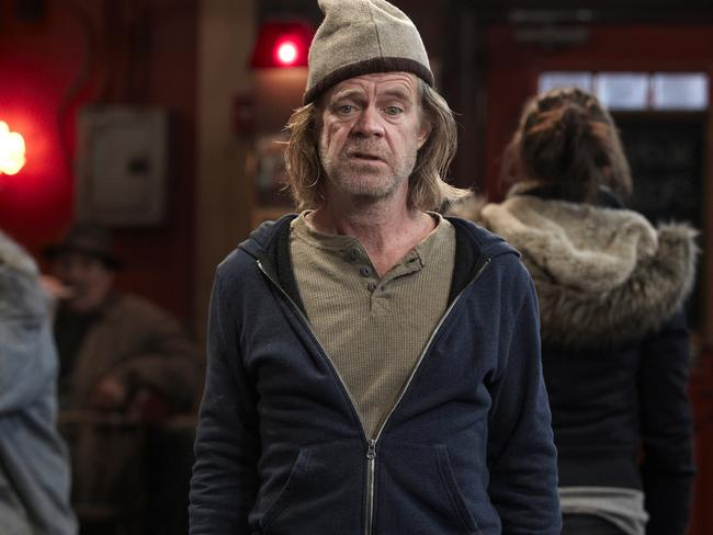 Alcoholic dad ... Actor William H Macy as Frank Gallagher in a scene from Shameless. Pic Foxtel.