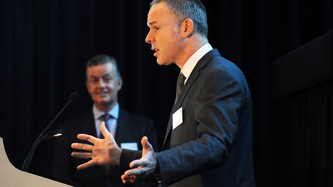 Bhp boss marius kloppers reassures investors for 125 st georges terrace perth western australia