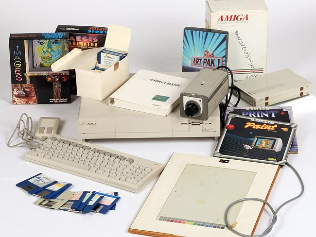 Stepping back in time ... the Commodore Amiga computer equipment used by Andy Warhol in 1985-86.