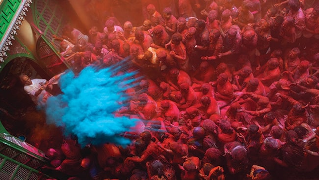 What's not to love about colour everywhere? Get colourful at Holi Festival in India. Picture: Supplied