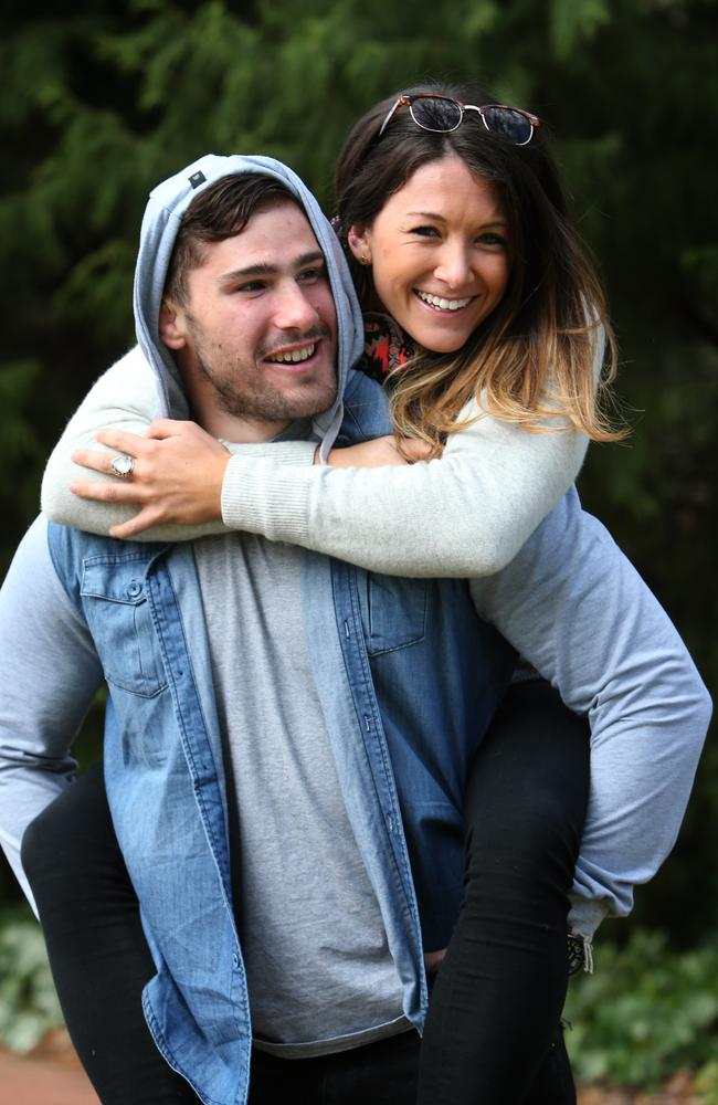 Nathan Charles has Cystic Fibrosis and his girlfriend Verity Simmons has Diabetes. Photo: Kym Smith