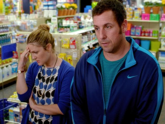 Losing the magic ... Drew Barrymore and Adam Sandler have starred in three films together.