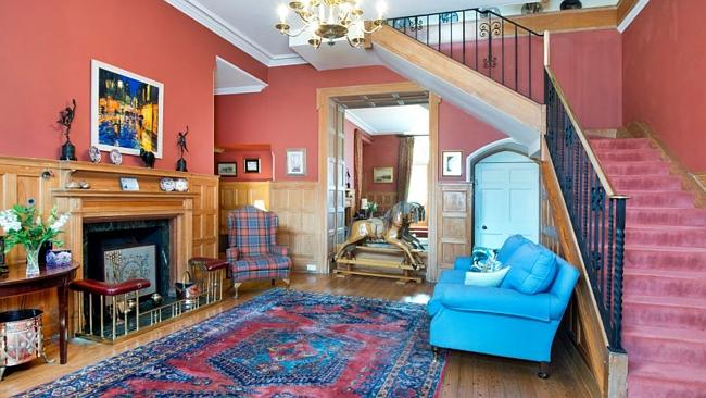 The property, which was used by Canadian forces in the Second World War, has a very grand hallway. Picture: Supplied.