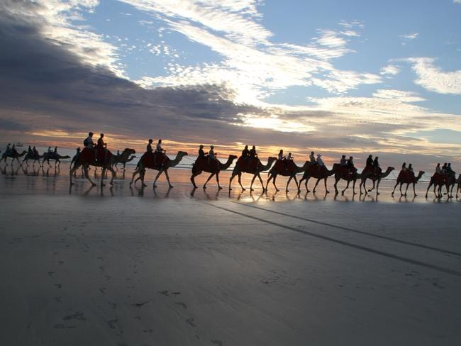 A camel ride like no other. Picture: Places We Go.