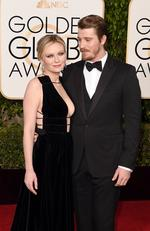 Kirsten Dunst and Garrett Hedlund attend the 73rd Annual Golden Globe Awards held at the Beverly Hilton Hotel on January 10, 2016 in Beverly Hills, California. Picture: Jason Merritt/Getty Images