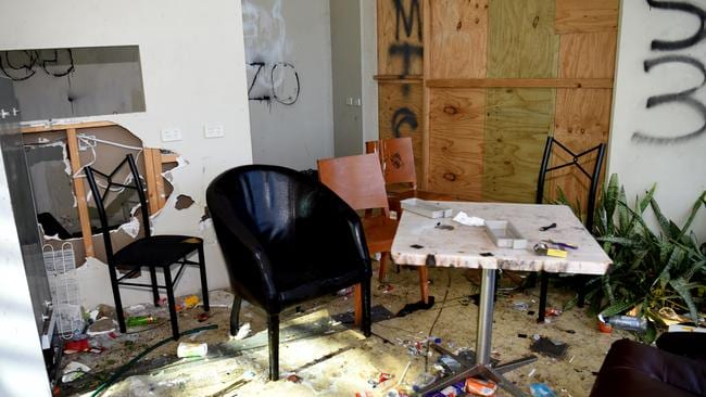 Residents say the Ecoville Community Centre has been trashed. Tarniet. Picture: Nicole Garmston/ News Corp Australia.