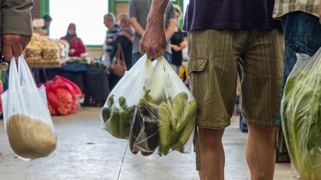 Many shoppers have replaced the plastic bag for an eco-friendly version.