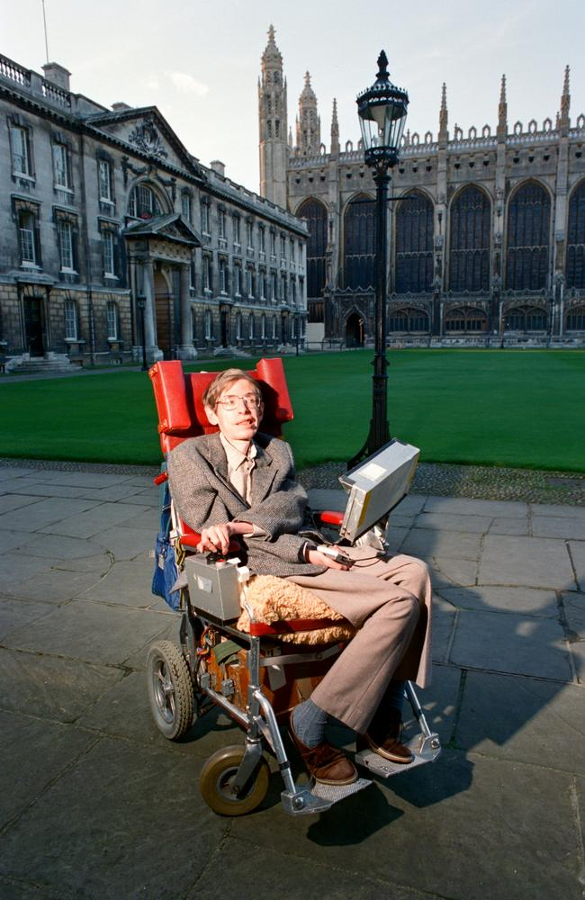 Dr Stephen Hawking Physics professor and author at Cambridge University in 1988. Picture: Getty