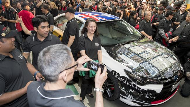 Toyota workers take photos of the last locally-made Camry. Picture: Supplied.