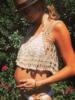 "Blossoming Stacey Keibler posts, ""Can't wait to spend next #MothersDay with this little angel in my arms #happymama #babybump"" Picture: Instagram"