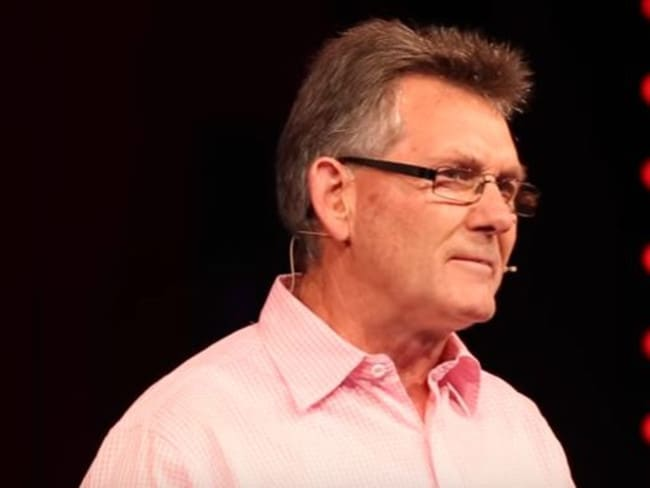 Ken Clearwater pictured during his TED talk in Queenstown earlier this year. Picture: YouTube